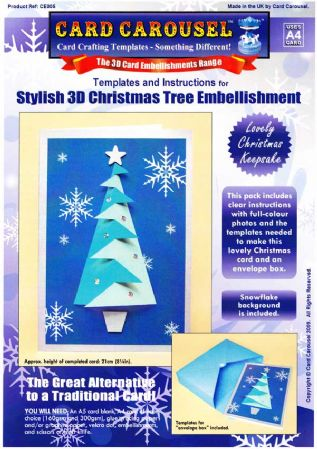 Stylish Christmas Tree Greeting Card Template From Card Carousel